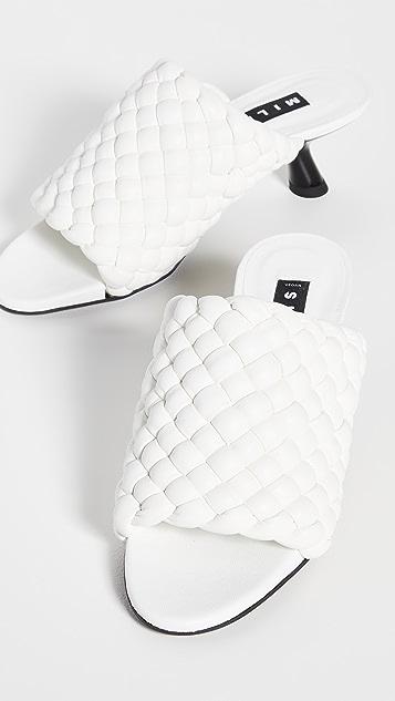 Simon Miller Vegan Woven Tee Heel Sandals