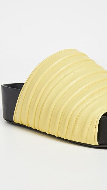 Simon Miller Vegan Pleated Dip Slides
