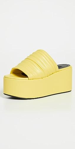 Simon Miller - 仿裥褶厚底凉鞋