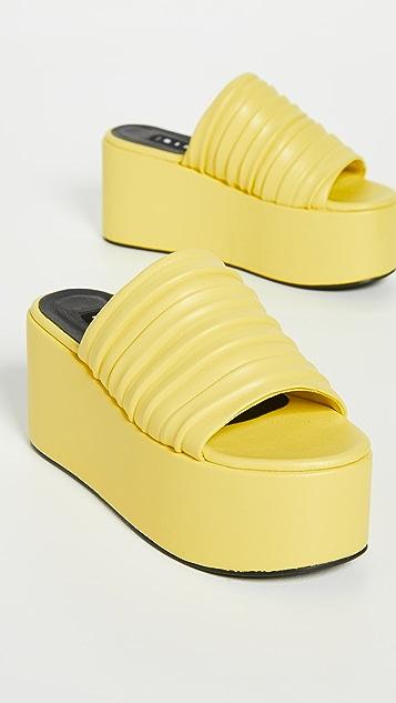 Simon Miller Vegan Pleated Coaster Platform Sandals
