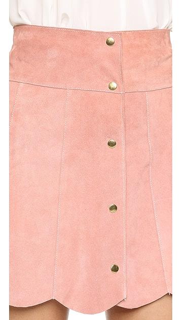 Stoned Immaculate Marsha Suede Petal Skirt