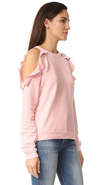 Sincerely Jules Ruffle Shoulder Sweatshirt