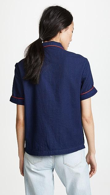 Siwy Anne Pinstripe Pajama Top