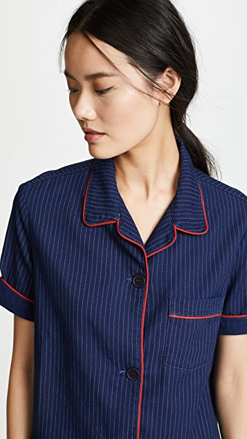 Siwy Anne Pinstripe Pajama Top