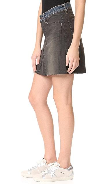 6397 Контрастная мини-юбка