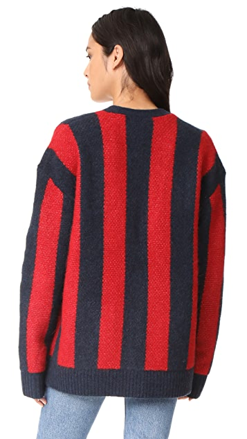 6397 Striped Kurt Cardigan