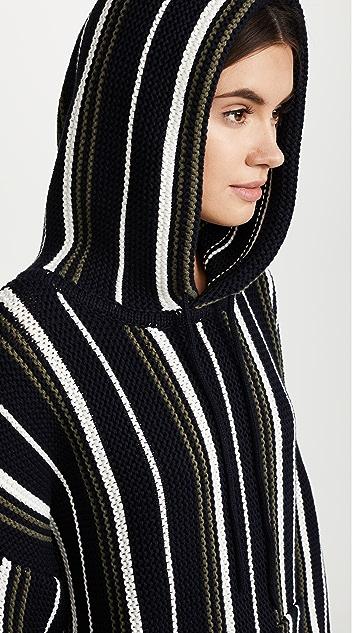 6397 Striped Baja Hoodie