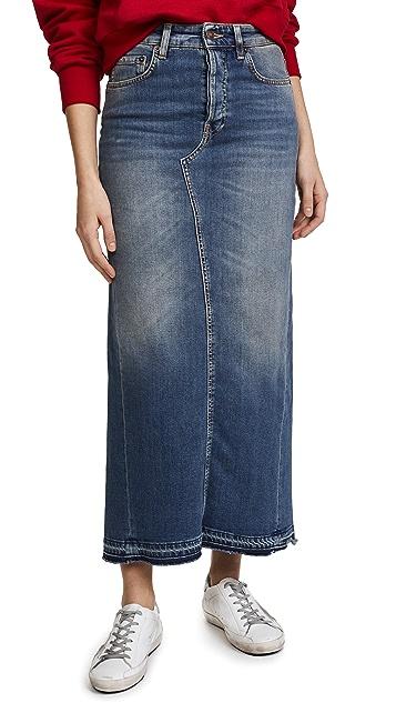 6397 Long Denim Skirt
