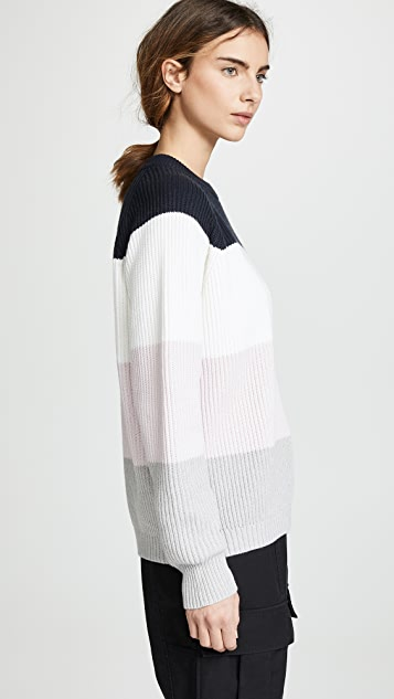 6397 Striped Raglan Pullover