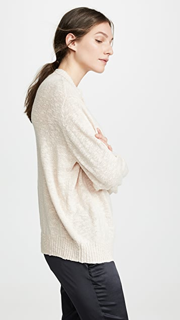 6397 Cable Trim Sweater