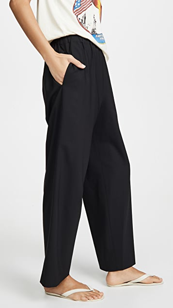 6397 Tropical Wool Wide Leg Pull On Trousers