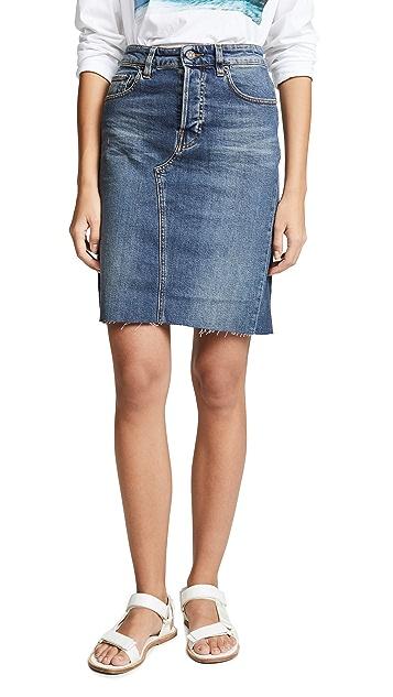 6397 Cut Off Denim Skirt