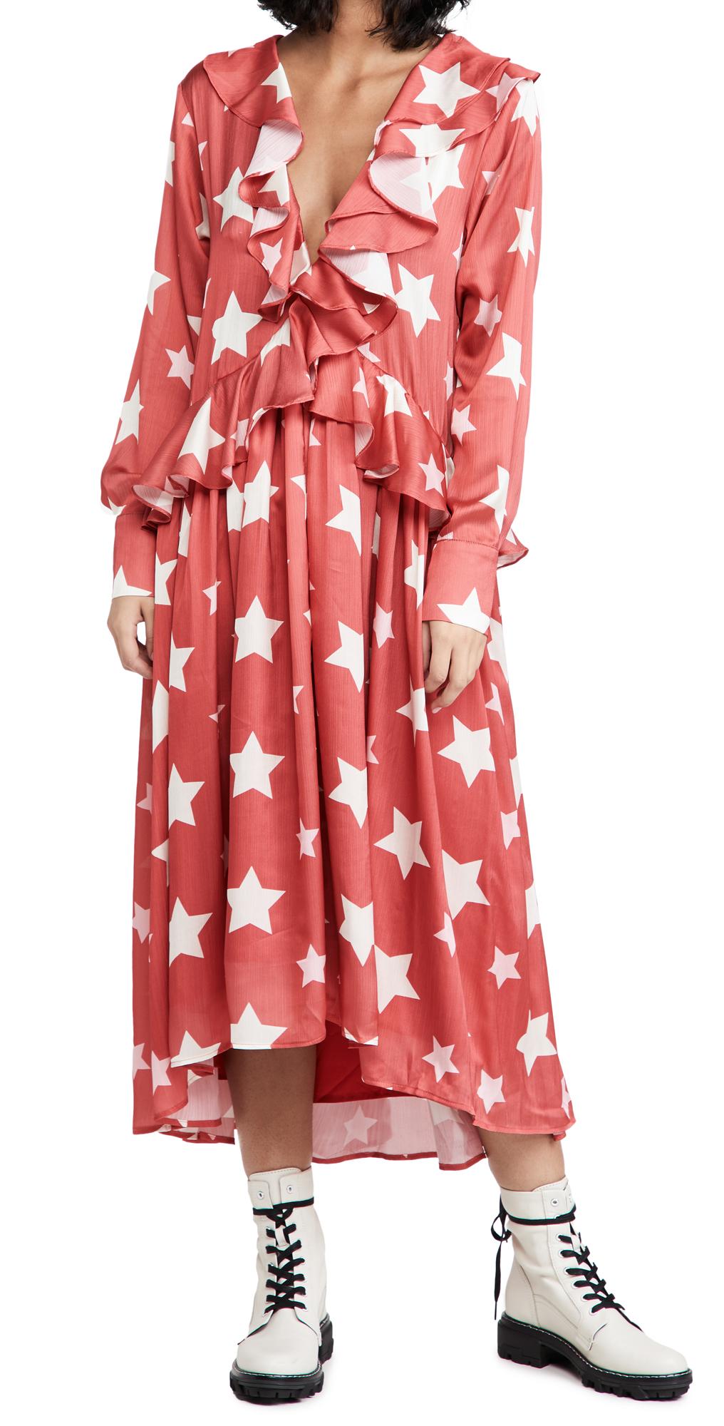 Sister Jane Star Baker Ruffle Midi Dress