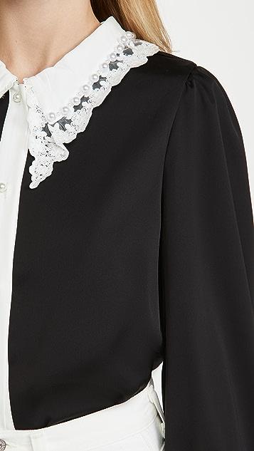 Sister Jane RSVP 蕾丝衣领女式衬衫