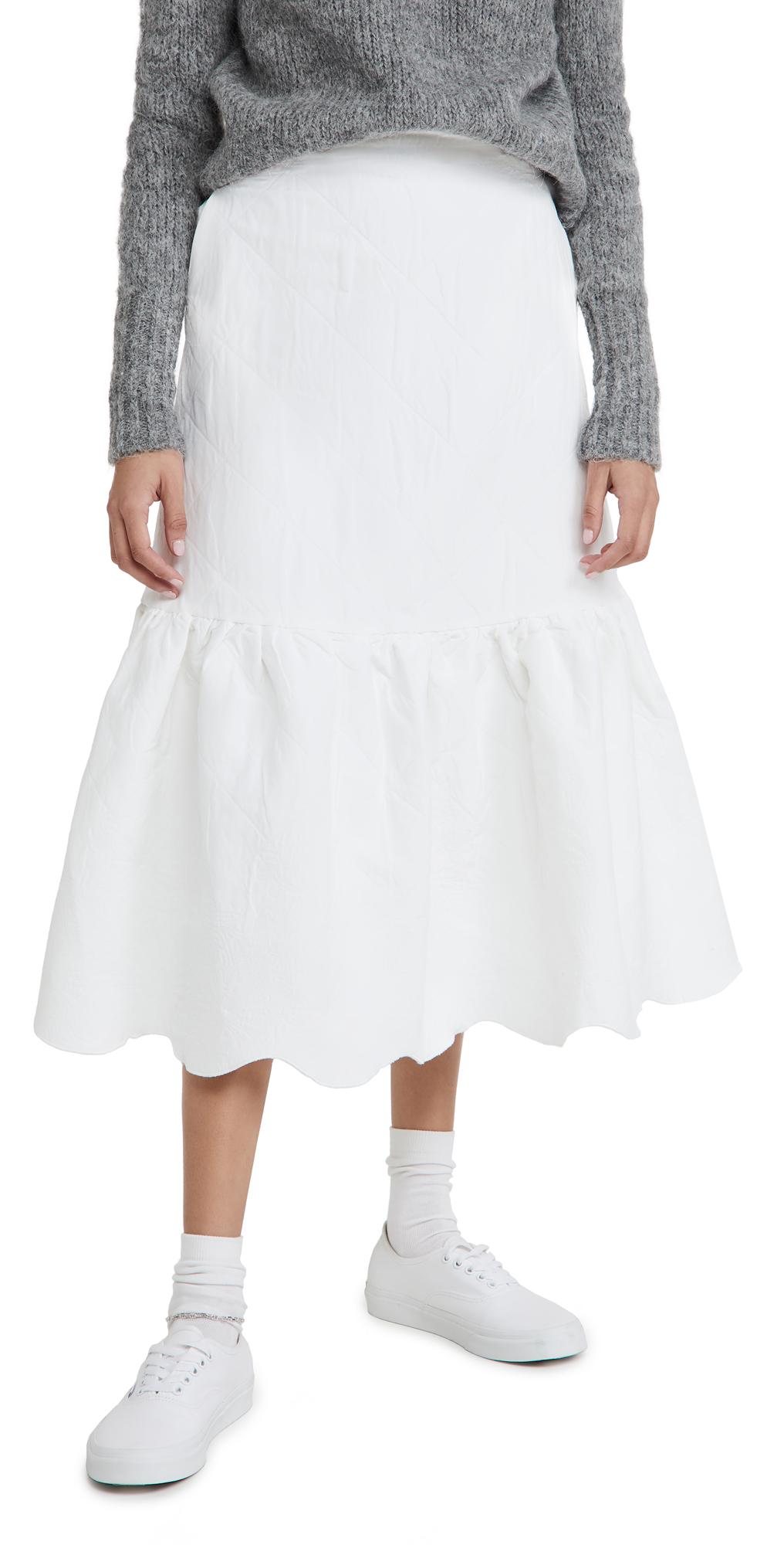 Sister Jane Cloud Jacquard Midi Skirt