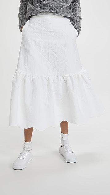 Sister Jane 云朵提花中长半身裙