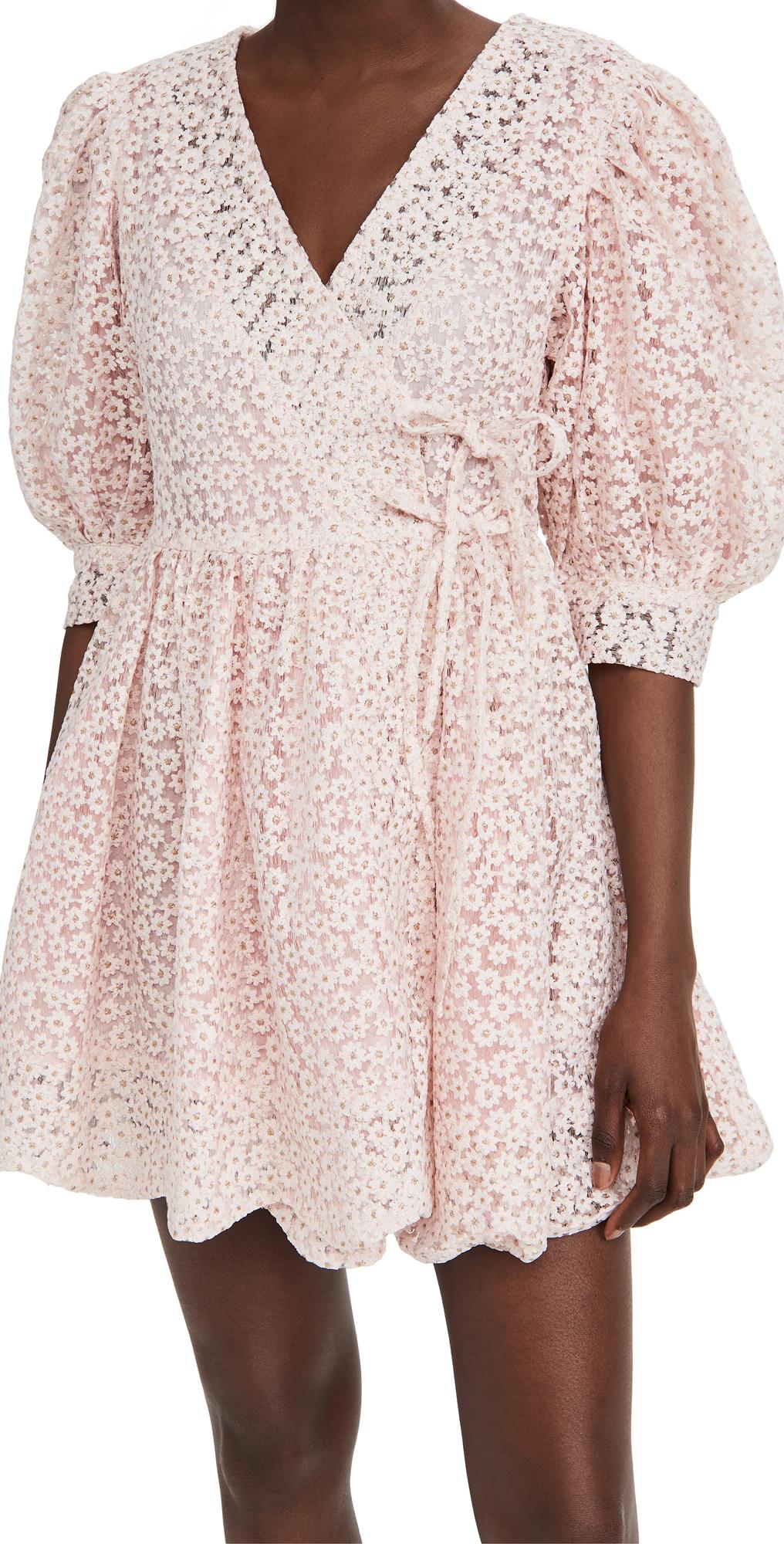 Sister Jane Pink Petalled Mini Wrap Dress