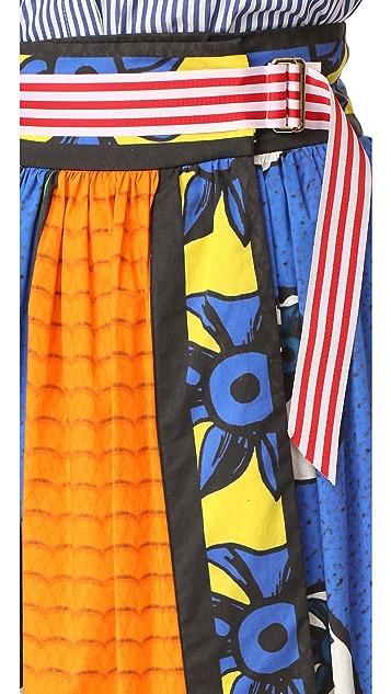 Stella Jean Belted Wrap Skirt