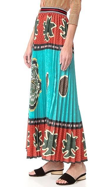 Stella Jean Flared Pleated Skirt