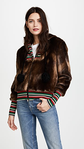 Stella Jean Faux Fur Jacket