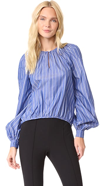 Stella Jean Striped Long Sleeve Blouse