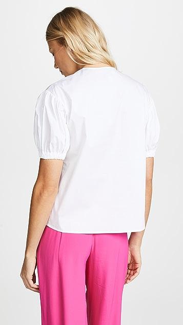 Stella Jean Short Sleeve Blouse