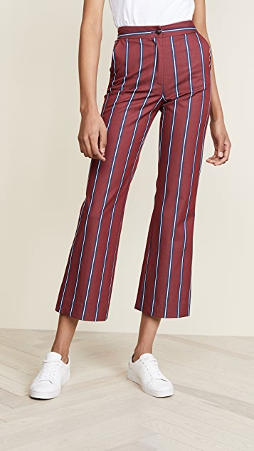 Stella Jean Straight Leg Striped Pants