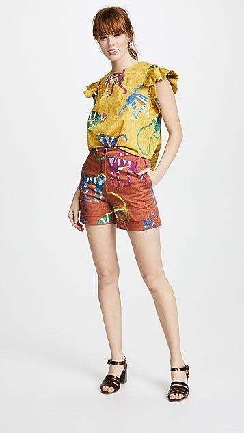 Stella Jean Monkey Print Shorts