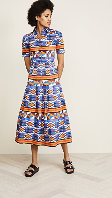 Stella Jean Button Down Print Dress