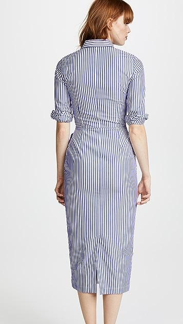 Stella Jean Long Sleeve Shirt Dress