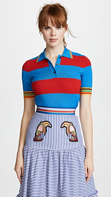 Striped Collared Shirt by Stella Jean