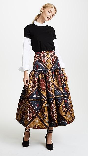 Stella Jean Patterned Midi Skirt