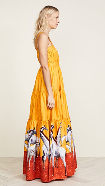 Stella Jean Giraffe Maxi Dress