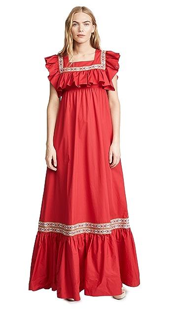 Stella Jean Maxi Dress with Bib