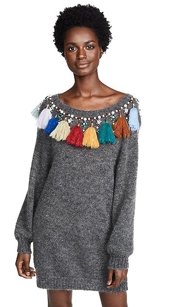 Stella Jean Tassel Sweater Dress