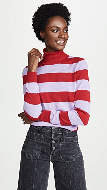 Stella Jean Striped Turtleneck