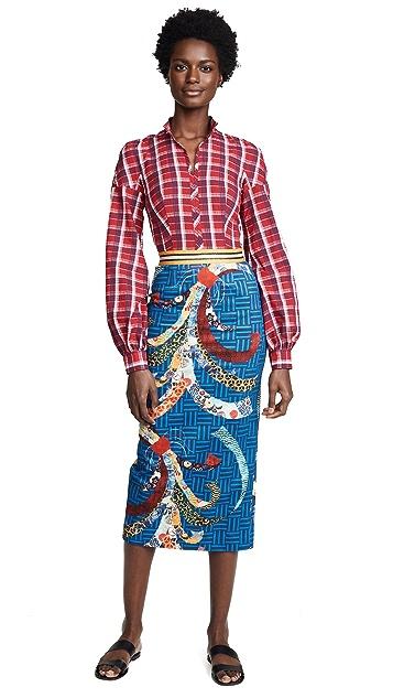 Stella Jean Combo Plaid Dress