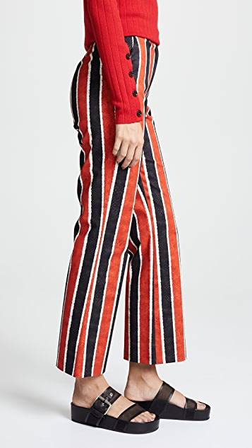 Stella Jean Striped Crop Trousers