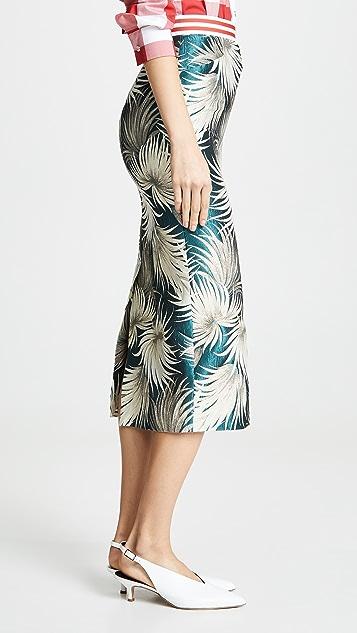 Stella Jean Floral Midi Skirt