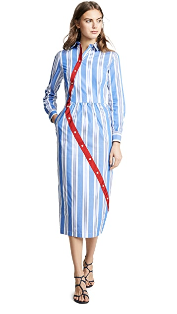 Stella Jean Striped Shirtdress