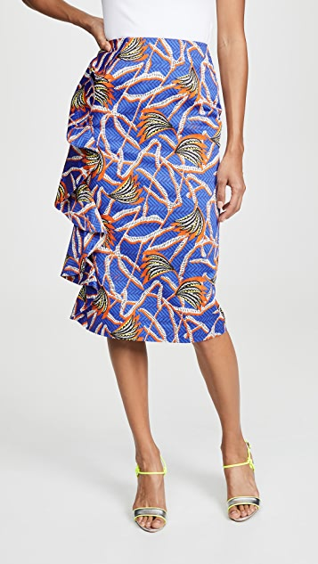 Stella Jean Миди-юбка с принтом в виде пальм