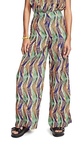 Stella Jean Широкие брюки с графическим принтом