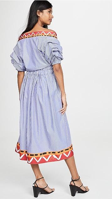 Stella Jean V 领衬衣式连衣裙