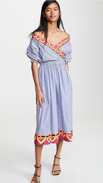 Stella Jean V Neck Shirtdress