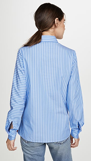 Stella Jean Diagonal Button Down Top