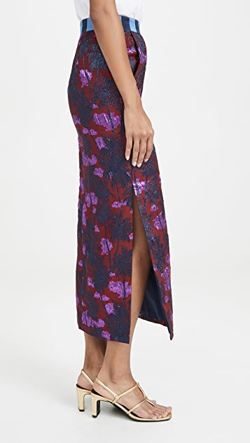 Stella Jean Palm Tree Midi Skirt