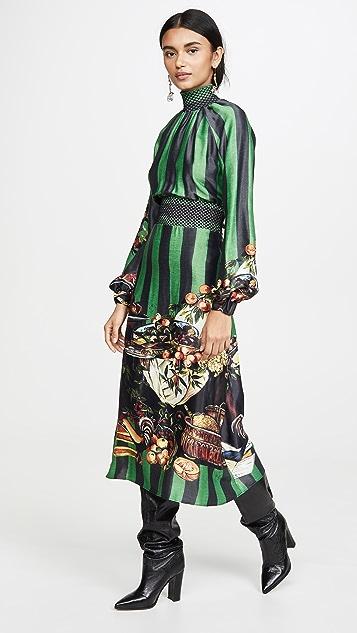 Stella Jean Striped Turtleneck Dress