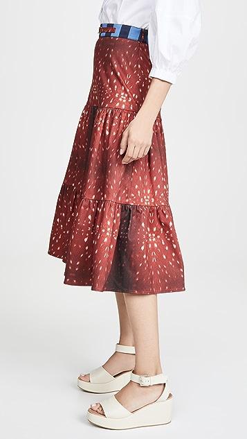 Stella Jean Fawn Print Skirt