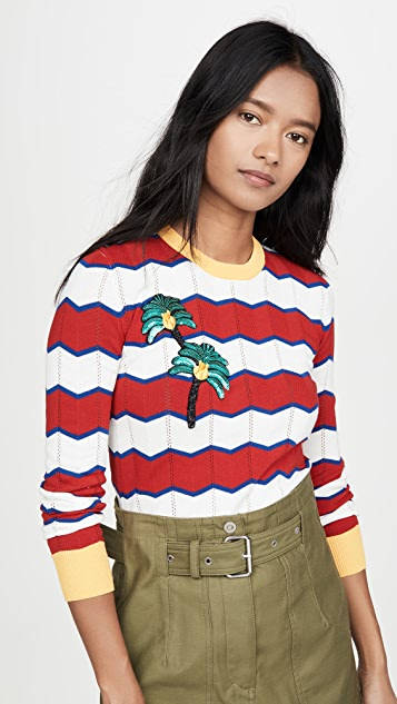 Stella Jean 条纹毛衣
