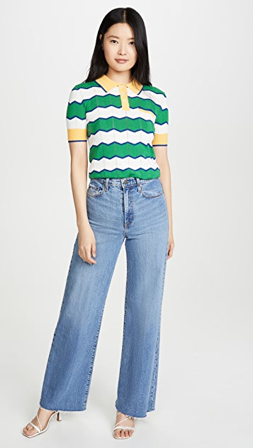 Stella Jean Striped Polo